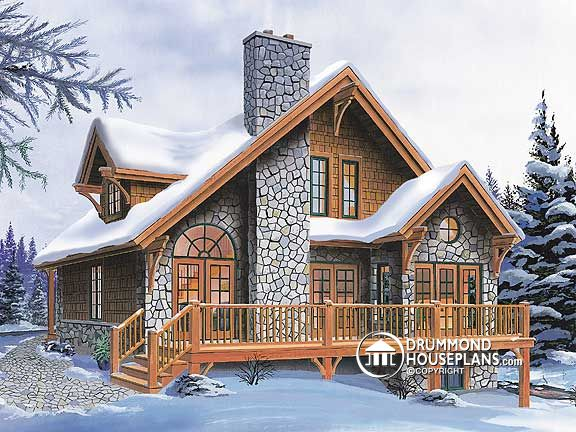 "Plan of the Week – ""Perfect 4-season chalet!"""