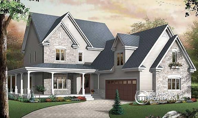 Colonial with 3 car garage - Drummond House Plans Blog on 1 car attached garage plans, 3 bay garage house plans, patio plans, attached carports, carport plans, rustic ranch house plans, 4 car attached garage plans, attached shed plans, fireplace plans, rv garage plans, attached house plans, laundry room plans, garage with workshop plans, attached 2 car garage door,