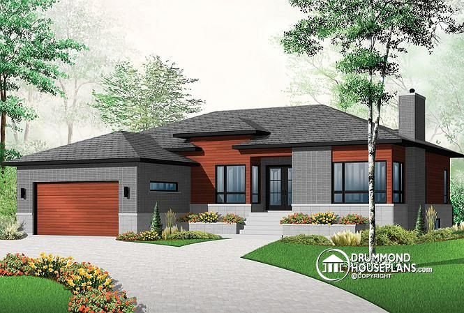Contemporary with garage