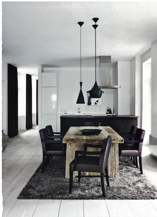Modern rustic in the dining room