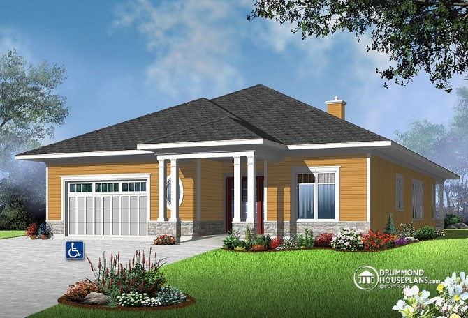 "House Plan of the Week: ""Fabulous Flow For Limited-Mobility Residents"""