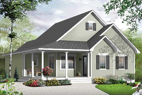 Simple Cape Cod cottage house plan