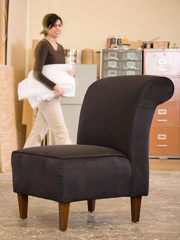 DIY Project: Bring an old chair to life by re-upholstering