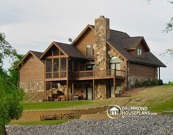 The Touchstone house plan # 2957 : Affordable Modern Rustic Cottage