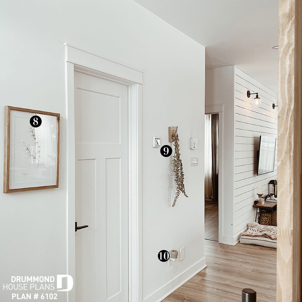 Hallway with simple decor