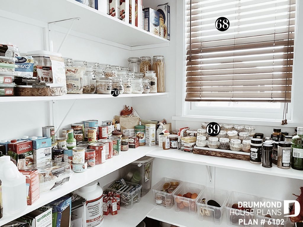 Well organised pantry