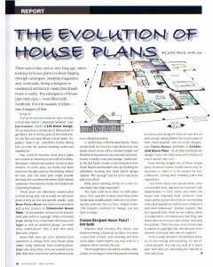 Home Builder Magazine report - May/June 2009