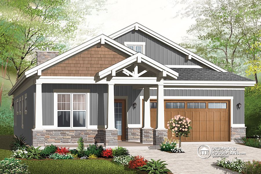 New craftsman house and home designs with today 39 s amenities for 2 bedroom craftsman style house plans