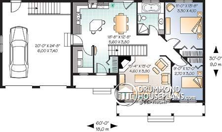 Drummond House Plans Ranch style no. 3220 (main level)
