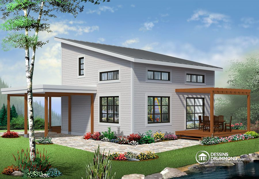 Drummond House Plans Affordable U0026 Modern Chalet No.