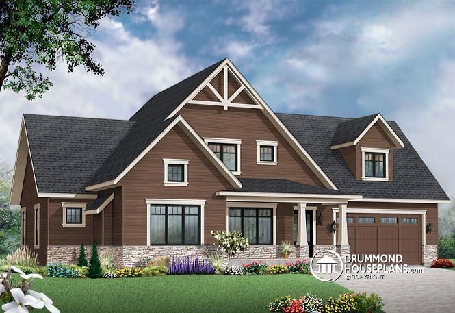 Stately 3 bedroom craftsman drummond house plans blog for Drummond designs home plans