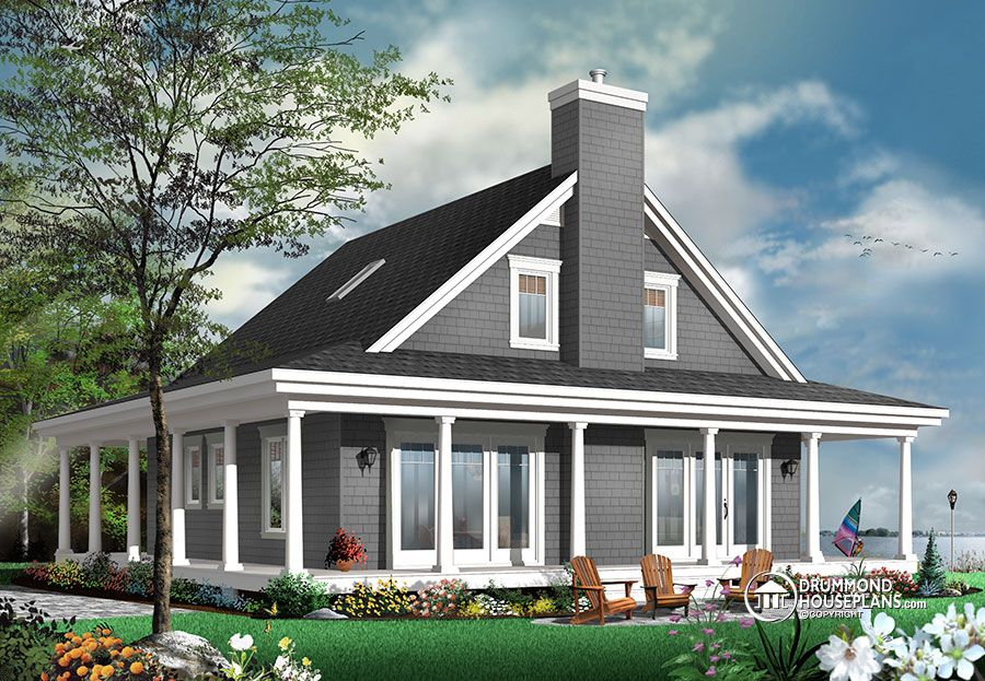 Rustic cottage for a large family for Drummond designs home plans