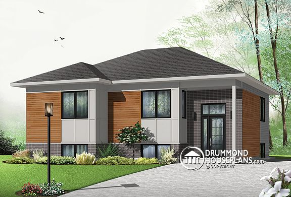 House plan of the week affordable contemporary bungalow for Affordable garage plans