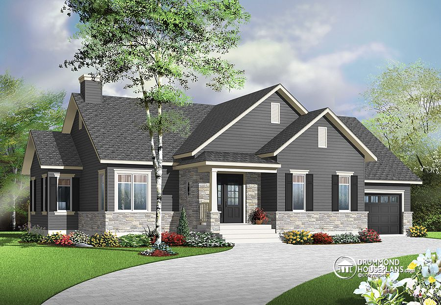 Modern farmhouse home dhp archives drummond house plans blog Modern rustic farmhouse plans