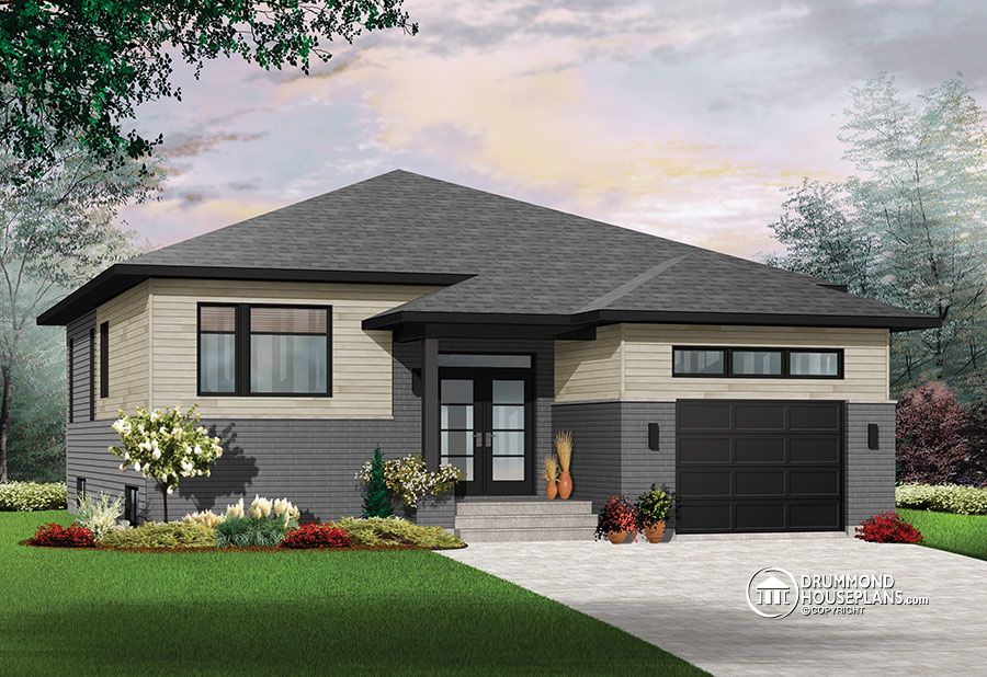 Contemporary With 9 Ft Ceilings Drummond House Plans Blog