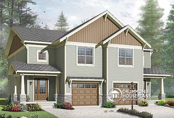 "Plan of the week – ""Duplex with Northwest Flair"""