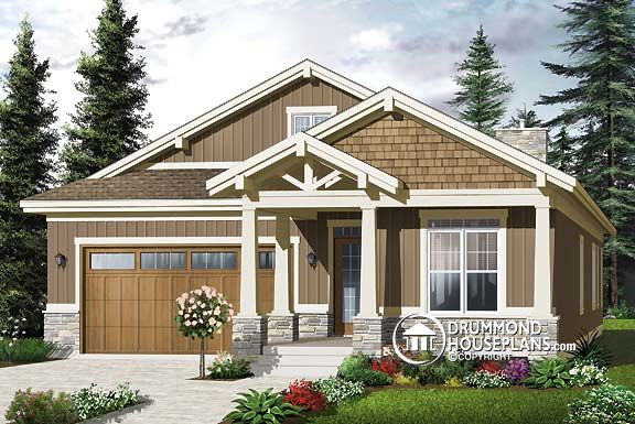 "Plan of the Week – ""Craftsman gem for narrow lots"""