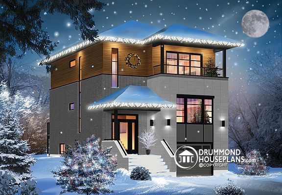 Plan of the Week u201cModern Holidays Home!u201d : garage basement house plans  - Aeropaca.Org