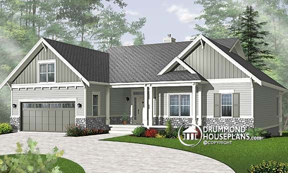 Plan of the week bungalow with basement to finish now for Bungalow house plans with basement and garage