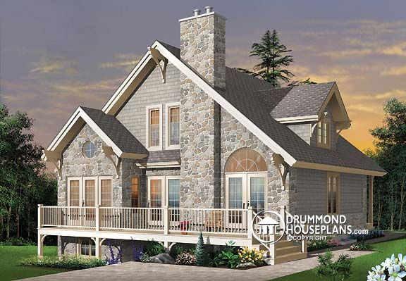 Excellent Lakefront Cottage Chalet Archives Drummond House Plans Blog Largest Home Design Picture Inspirations Pitcheantrous