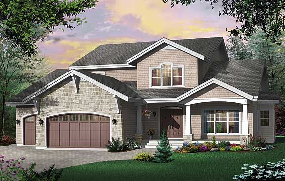 Modern Rustic house plan with contemporary amenities
