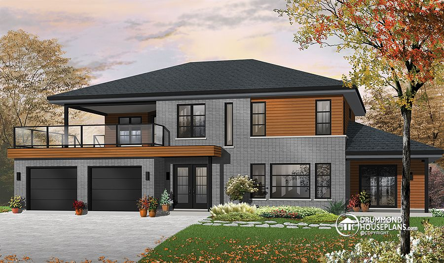 Plan of the week contemporary bi generational Multi generational home plans