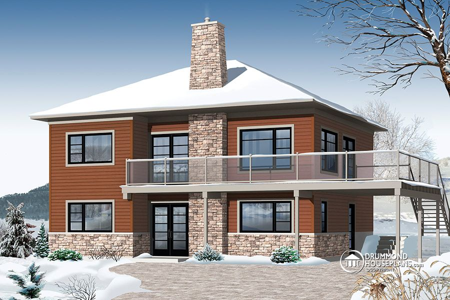 Contemporary chalet drummond house plans blog for Modern house design blog
