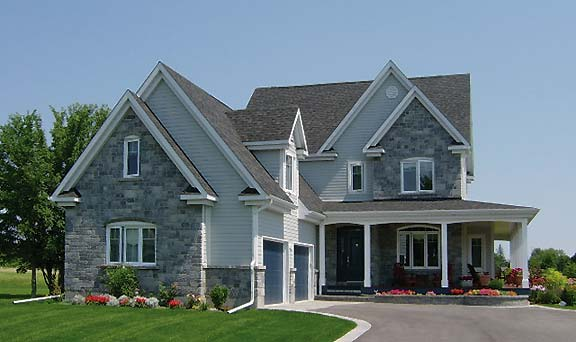 Colonial house plan narrow lot blog drummond house plans for Narrow lot house plans with garage
