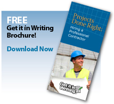 Looking to build or renovate? Get it in writing!