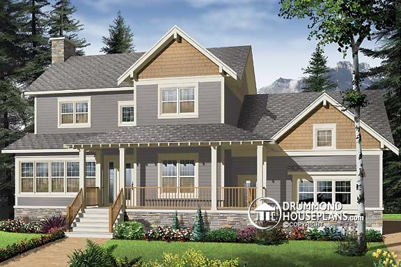 Elegant NEW Craftsman home design with large bonus space