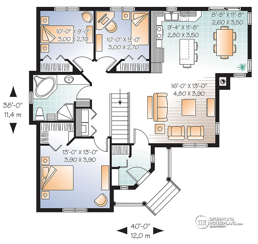 3 Bedroom House Floor Plans