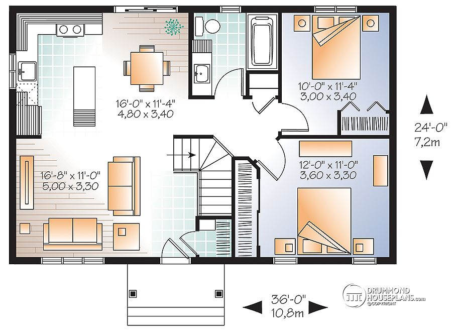 traditional ranch home # 3137 by Drummond House Plans